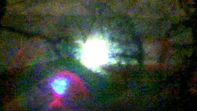 Plasma Ball filmed coming down the mountain in Pentyrch